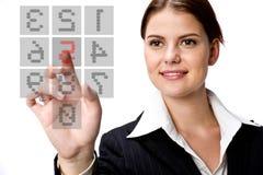 女实业家和键盘 免版税库存照片