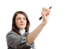 女实业家图画年轻人 免版税图库摄影