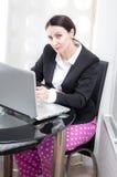 女实业家在办公室 图库摄影