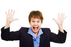 女实业家害怕了 免版税库存图片