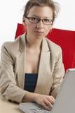 女实业家工作年轻人 库存照片