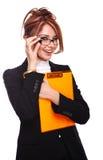 女实业家性感的教师 免版税库存照片