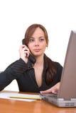女实业家成功的年轻人 免版税库存图片