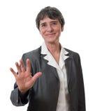 女实业家拒绝 免版税库存照片