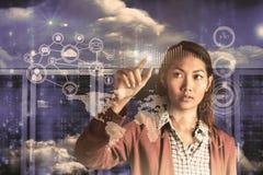 女实业家指向的综合图象 免版税库存图片