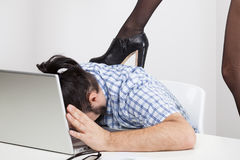 女实业家控制 免版税图库摄影