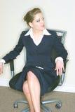 女实业家椅子 免版税库存图片