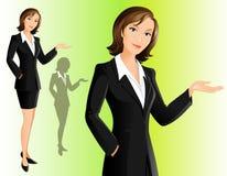 女实业家欢迎 免版税库存图片