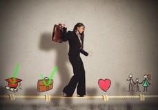 女实业家生活阶段  免版税库存照片