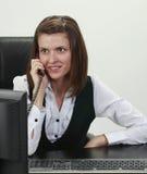女实业家电话 免版税库存照片