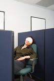 女实业家睡觉 免版税图库摄影