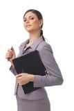 女实业家确信的年轻人 免版税库存图片