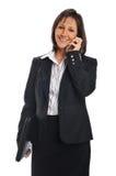 女实业家移动电话 库存照片