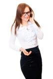 女实业家纵向年轻人 免版税图库摄影