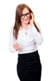 女实业家纵向年轻人 库存图片