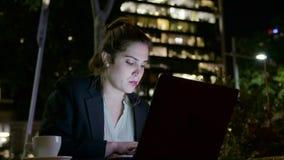 女实业家膝上型计算机 影视素材