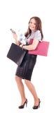 年轻女实业家被隔绝 免版税图库摄影
