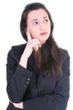 女实业家远期认为的年轻人 库存图片