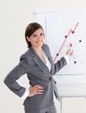 女实业家迷人会议产生 免版税库存照片