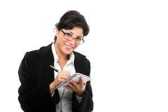 女实业家附注采取 免版税库存图片