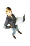 女实业家顶层 免版税库存照片