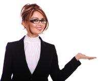 女实业家兴奋秘书教师 库存照片