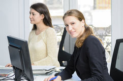 年轻女实业家 免版税库存照片