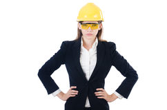 年轻女实业家 免版税库存图片