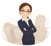 女实业家 免版税库存照片