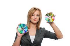 女实业家cds暂挂 免版税库存照片