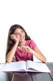 女小学生微笑 免版税图库摄影