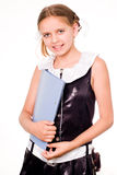女小学生微笑 图库摄影