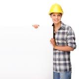 女工匠年轻人 免版税库存图片