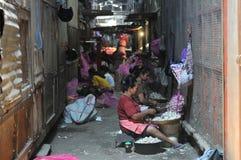 女工在印度尼西亚 库存图片