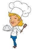 女性主厨 向量例证