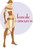 女性亚马逊 皇族释放例证