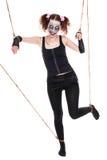 女性人的木偶看起来蠕动 免版税库存图片