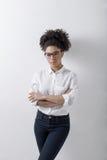 年轻女性企业家 免版税库存图片