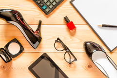 女性企业辅助部件 免版税库存照片