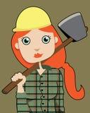 女性伐木工人 库存图片