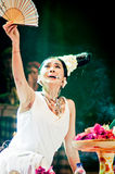 女性传统音乐家和歌手。 图库摄影