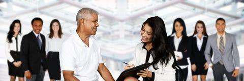 女性保险代理公司 免版税库存图片