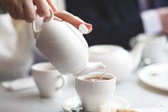 女性倾吐的茶 免版税图库摄影