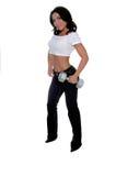 女性健身培训人 免版税库存图片