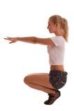 女性健身 免版税库存图片