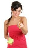 女性其提供的铅笔过帐学员 库存图片