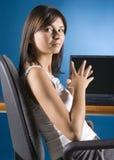 女性办公室工作者 图库摄影