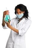 女性化验员 免版税库存照片
