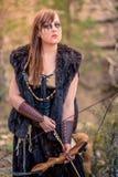女性北欧海盗字符 库存图片