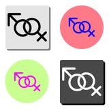 女性和男性性别 平的传染媒介象 库存例证